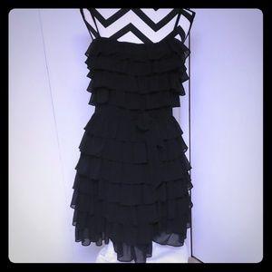 Juicy couture vintage silk ruffled chiffon dress